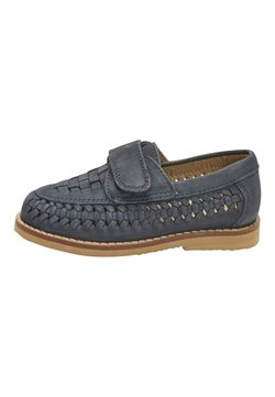 Next - NAVY LEATHER WOVEN LOAFERS (YOUNGER) - Instappers - blue