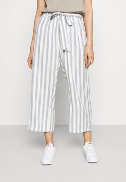 ONLY - ONLASTRID CULOTTE PANTS  - Kangashousut - cloud dancer/silver conce