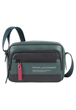 Piquadro - CROSSOVER BAG - Umhängetasche - dark green