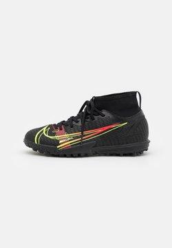 Nike Performance - MERCURIAL 8 ACADEMY TF UNISEX - Voetbalschoenen voor kunstgras - black/cyber/off noir