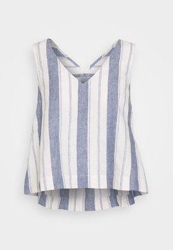 Madewell - SIDE TIE TANK STRIPE - Bluse - nice blue