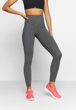 Reebok - LUX HIGHRISE - Tights - dark grey