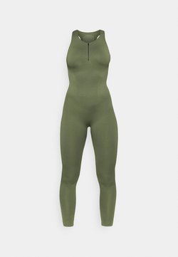 NU-IN - ZIP UP LONG BODYSUIT - Turnpak - green