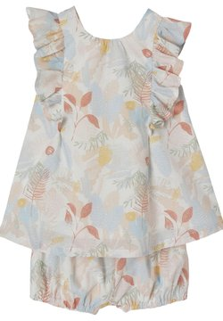 Vertbaudet - SET - Shorts - hellblau/rosa bedruckt