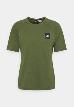 adidas Performance - TEE - Camiseta estampada - khaki