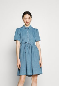 Vero Moda - VMELLIE STRING DRESS - Denim dress - light blue denim