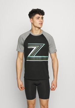 Zimtstern - THE Z TEE MEN - T-Shirt print - pirate black/gun metal melange