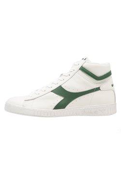 Diadora - GAME WAXED - Sneakers hoog - white/fogliage