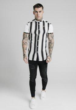 SIKSILK - Camicia - black/white