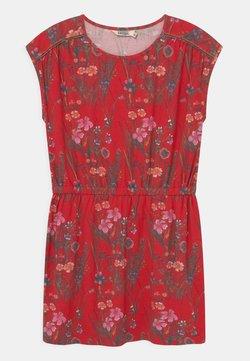 Kaporal - FLORAL TIE WAIST - Jerseykleid - red