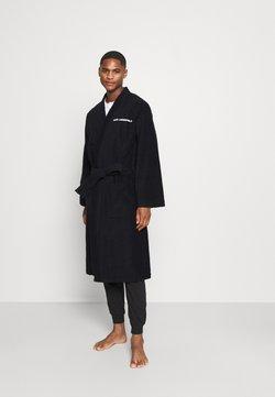 KARL LAGERFELD - LOGO BATHROBE UNISEX - Dressing gown - black