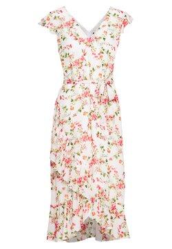Wallis - FLOWER CHAIN RUFFLE DRESS - Robe d'été - ivory