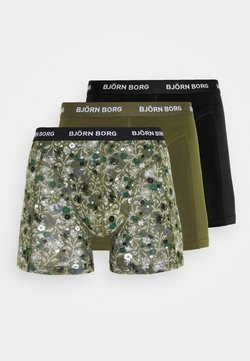 Björn Borg - FLOWER SAMMY 3 PACK - Shorty - olive night