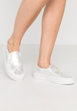 Superdry - CLASSIC TRAINER - Slip-ons - distressed silver