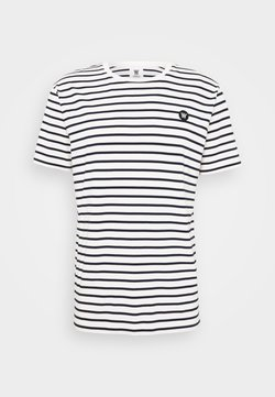 Wood Wood - ACE - T-Shirt print - off-white/navy