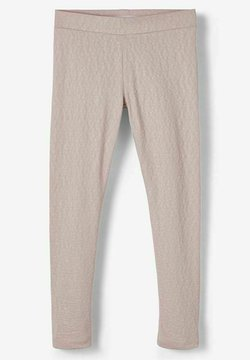 Name it - MIT RELIEF LEOPARDENMUSTER - Leggings - violet ice