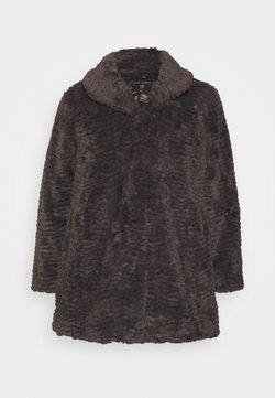 Dorothy Perkins Curve - LONG LINE COAT - Winter coat - grey