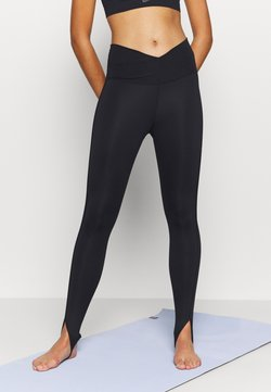 Nike Performance - YOGA CORE CUTOUT 7/8 - Collants - black/dark smoke grey
