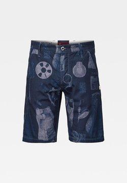 G-Star - LOIC - Shorts - faded sartho blue mono objects