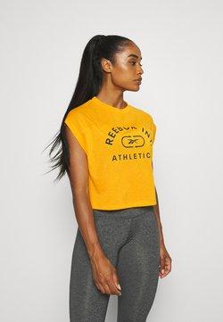 Reebok - WOR SUPREMIUM LOGO TEE - T-shirts print - semi solar gold