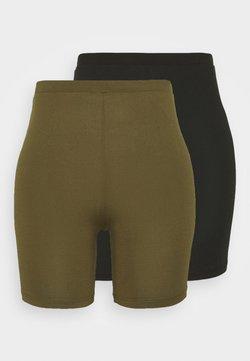 Vila - VIBE BIKER 2 PACK - Shorts - black/dark olive