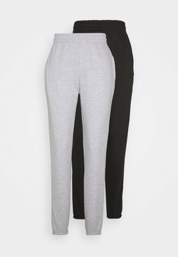Missguided Tall - BASIC JOGGER 2 PACK - Jogginghose - black/grey