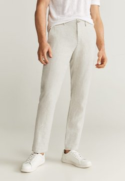Mango - OYSTER - Pantalones - ecru