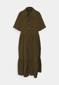 Selected Femme - SLFRONDA LONG SHIRT DRESS - Sukienka koszulowa - olive night