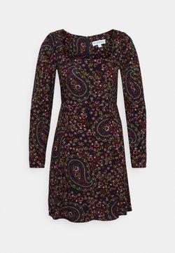 Miss Selfridge - PAISLEY SQUARE NECK MINI DRESS - Vestito estivo - black