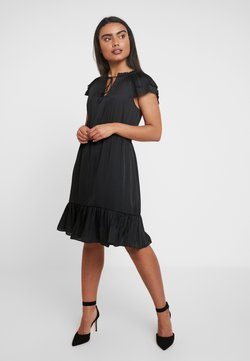 Banana Republic - SOFT TIE NECK - Cocktail dress / Party dress - black