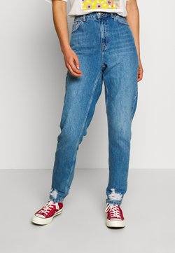 Topshop - IBIZA POCKET MOM  - Jeans baggy - blue denim