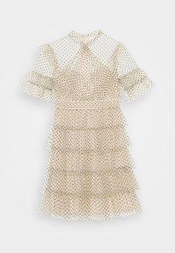 By Malina - LIONA DOTTED DRESS - Freizeitkleid - soft beige