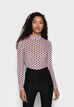 Missguided Petite - SPOT BODYSUIT - Bluse - baby pink
