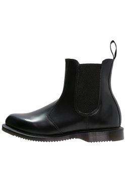 Dr. Martens - FLORA - Støvletter - black polished smooth