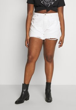 Missguided Plus - EXTREME FRAY HEM RIOT - Jeansshort - white