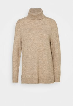 ONLY - ONLCORINNE HIGHNECK - Jersey de punto - toasted coconut