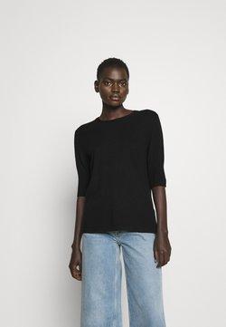 Filippa K - CLAIRE ELBOW SLEEVE - T-shirt basic - black