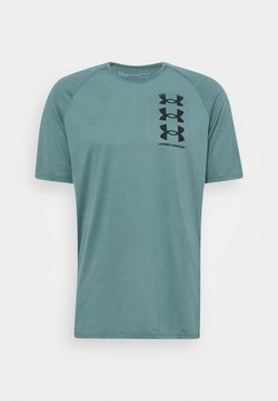 Under Armour - TRIPLE LOGO TECH - T-Shirt print - lichen blue