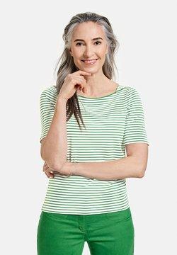 Gerry Weber - 1/2 ARM - T-Shirt print - ecru/weiss/grün ringel