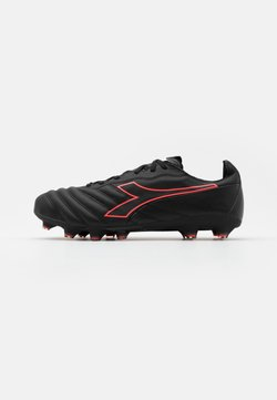 Diadora - BRASIL ELITE LT LP12 - Moulded stud football boots - black/red fluo