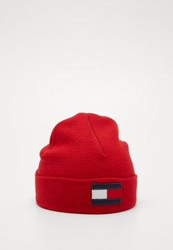 Tommy Hilfiger - BIG FLAG BEANIE - Mütze - red