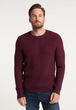 DreiMaster - Stickad tröja - bordeaux rot