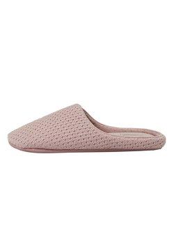 OYSHO - BASIC EMBROIDERED - Pantofole - mauve