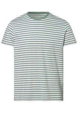 Nils Sundström - T-Shirt print - grün weiß