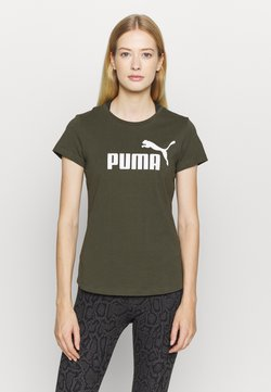 Puma - LOGO TEE - Printtipaita - forest night