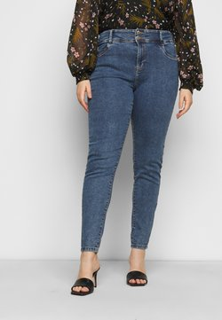Noisy May Curve - NMAGNES BUTTON - Jeansy Skinny Fit - medium blue denim