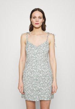 Abercrombie & Fitch - TIE STRAP SHORT DRESS - Freizeitkleid - green