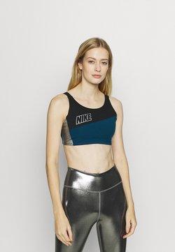 Nike Performance - LOGO BRA PAD - Urheiluliivit - valerian blue/black/metallic cool grey
