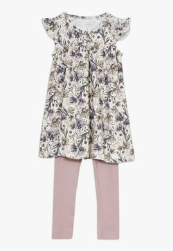 Name it - NBFFUTINA DRESS NBFFLORINA SET - Leggings - Hosen - whisper white