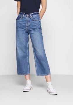 Even&Odd - Wide Leg Cropped jeans - Straight leg -farkut - blue denim